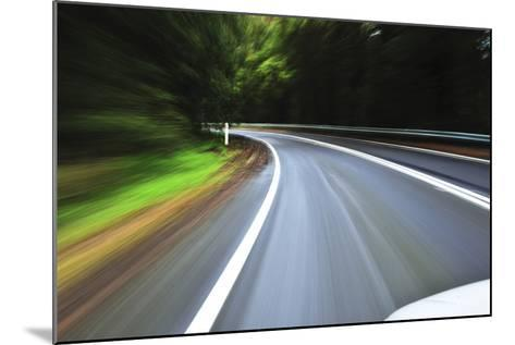 A View of a Bend in the Road from a Moving Vehicle-Keith Ladzinski-Mounted Photographic Print