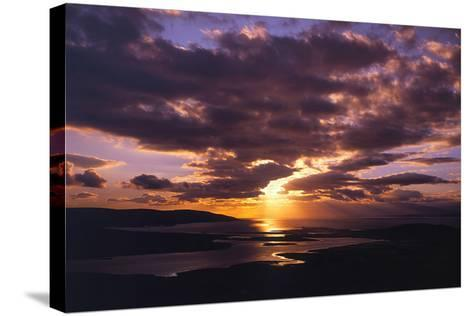 Sunset over Black Head Bay, County Mayo, Ireland-Chris Hill-Stretched Canvas Print