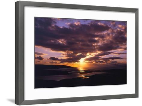 Sunset over Black Head Bay, County Mayo, Ireland-Chris Hill-Framed Art Print