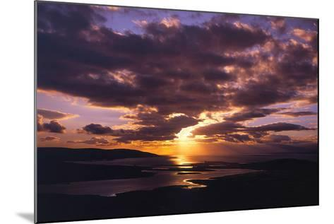 Sunset over Black Head Bay, County Mayo, Ireland-Chris Hill-Mounted Photographic Print