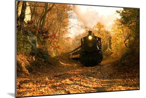 The Essex Steam Train Chugs Through the Autumn Forest-Brian Drouin-Mounted Photographic Print