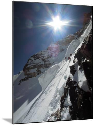 Expedition Members Approach the Japanese Couloir-Darius Zaluski-Mounted Photographic Print