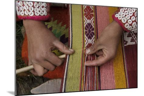 A Quechua Woman Weaves on an Andean Backstrap Loom-Beth Wald-Mounted Photographic Print