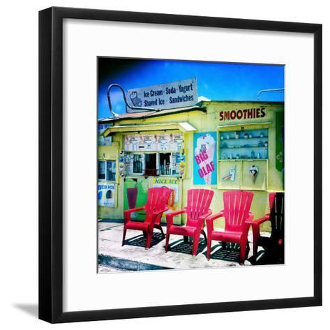 An Ice Cream Stand-Skip Brown-Framed Art Print