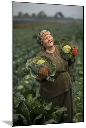 A Cabbage Farmer on Her Farm-Jim Richardson-Mounted Photographic Print