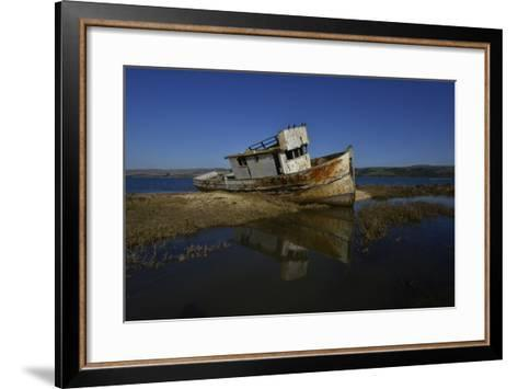 The Wreck of a Fishing Boat-Raul Touzon-Framed Art Print