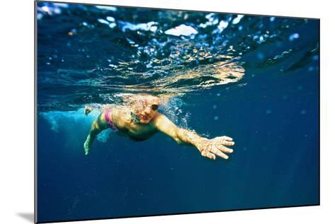 A Man Swims in the Caribbean Sea-Heather Perry-Mounted Photographic Print
