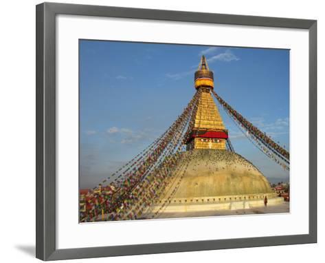 The Bodhnath Stupa in Kathmandu-Martin Gray-Framed Art Print