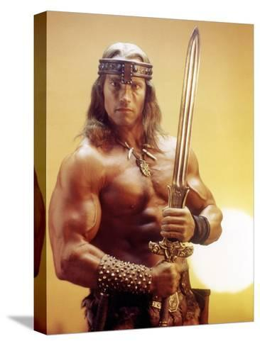Conan the Destroyer, Arnold Schwarzenegger, by Richard Fleischer with, 1984--Stretched Canvas Print