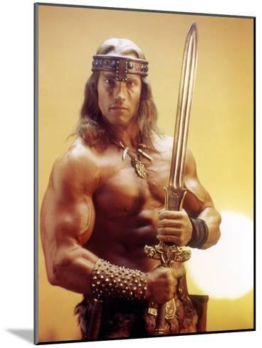 Conan the Destroyer, Arnold Schwarzenegger, by Richard Fleischer with, 1984--Mounted Photo