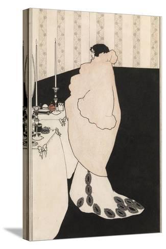 La Dame Aux Camelias-Aubrey Beardsley-Stretched Canvas Print