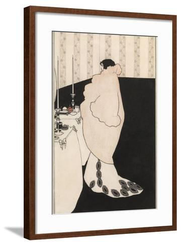 La Dame Aux Camelias-Aubrey Beardsley-Framed Art Print