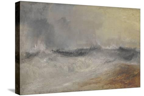 Waves Breaking Against the Wind-J^ M^ W^ Turner-Stretched Canvas Print