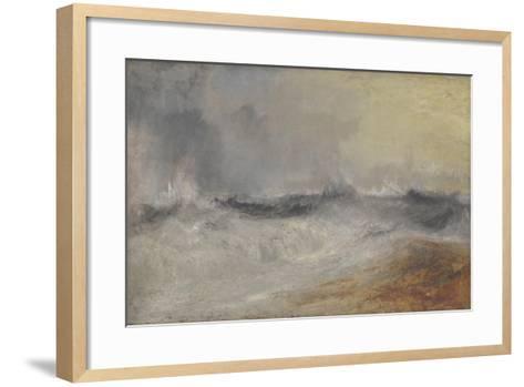 Waves Breaking Against the Wind-J^ M^ W^ Turner-Framed Art Print