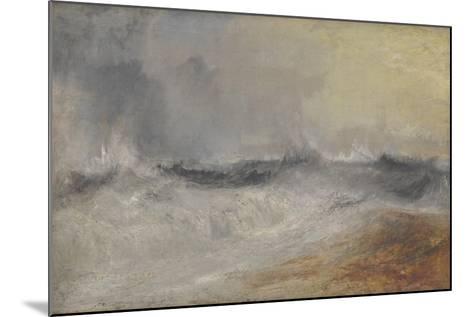 Waves Breaking Against the Wind-J^ M^ W^ Turner-Mounted Giclee Print