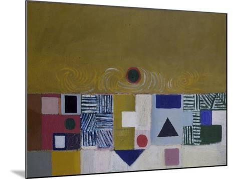 Square Motif, Blue and Gold: The Eclipse-Victor Pasmore-Mounted Giclee Print