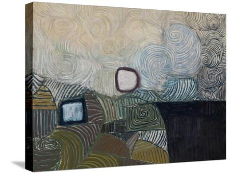 Spiral Motif in Green, Violet, Blue and Gold: the Coast of the Inland Sea-Victor Pasmore-Stretched Canvas Print
