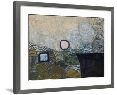 Spiral Motif in Green, Violet, Blue and Gold: the Coast of the Inland Sea-Victor Pasmore-Framed Art Print