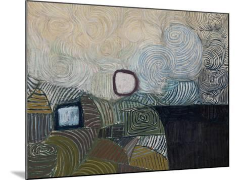 Spiral Motif in Green, Violet, Blue and Gold: the Coast of the Inland Sea-Victor Pasmore-Mounted Giclee Print