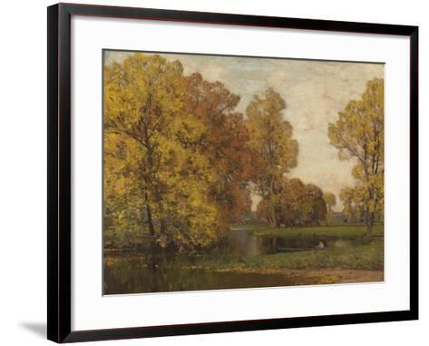 Golden Autumn-Sir Alfred East-Framed Art Print