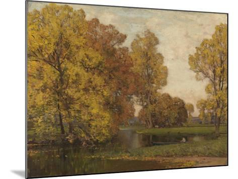 Golden Autumn-Sir Alfred East-Mounted Giclee Print