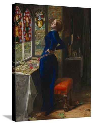 Mariana-John Everett Millais-Stretched Canvas Print