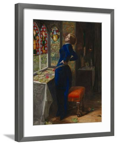 Mariana-John Everett Millais-Framed Art Print