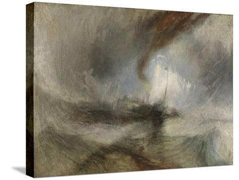 Snow Storm - Steam-Boat Off a Harbour's Mouth-J^ M^ W^ Turner-Stretched Canvas Print