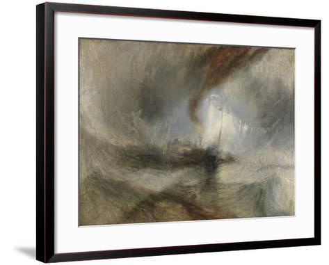 Snow Storm - Steam-Boat Off a Harbour's Mouth-J^ M^ W^ Turner-Framed Art Print