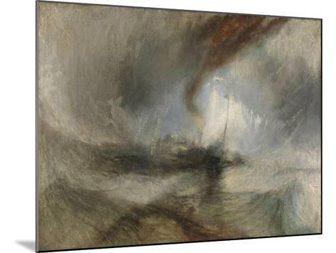 Snow Storm - Steam-Boat Off a Harbour's Mouth-J^ M^ W^ Turner-Mounted Giclee Print