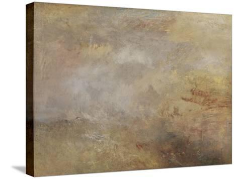 Stormy Sea with Dolphins-J^ M^ W^ Turner-Stretched Canvas Print