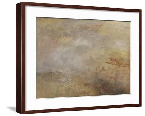 Stormy Sea with Dolphins-J^ M^ W^ Turner-Framed Art Print