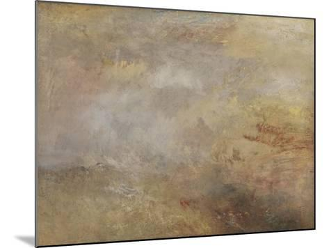 Stormy Sea with Dolphins-J^ M^ W^ Turner-Mounted Giclee Print