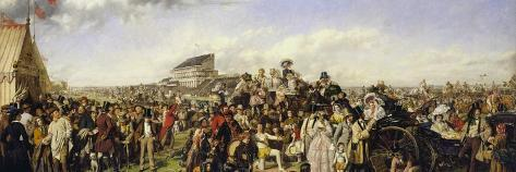 The Derby Day-William Powell Frith-Stretched Canvas Print