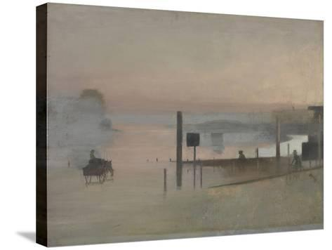 The Quiet River: the Thames at Chiswick-Victor Pasmore-Stretched Canvas Print