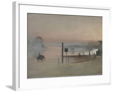 The Quiet River: the Thames at Chiswick-Victor Pasmore-Framed Art Print