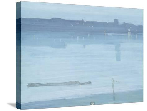 Nocturne: Blue and Silver - Chelsea-James Abbott McNeill Whistler-Stretched Canvas Print