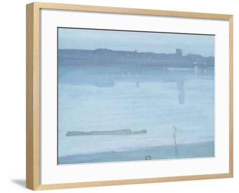Nocturne: Blue and Silver - Chelsea-James Abbott McNeill Whistler-Framed Art Print
