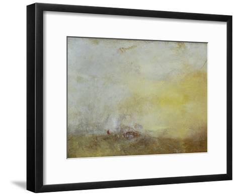 Sunrise with Sea Monsters-J^ M^ W^ Turner-Framed Art Print