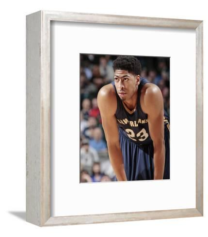 New Orleans Pelicans v Dallas Mavericks-Glenn James-Framed Art Print