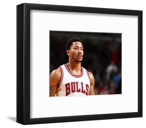Dallas Mavericks v Chicago Bulls-Gary Dineen-Framed Art Print