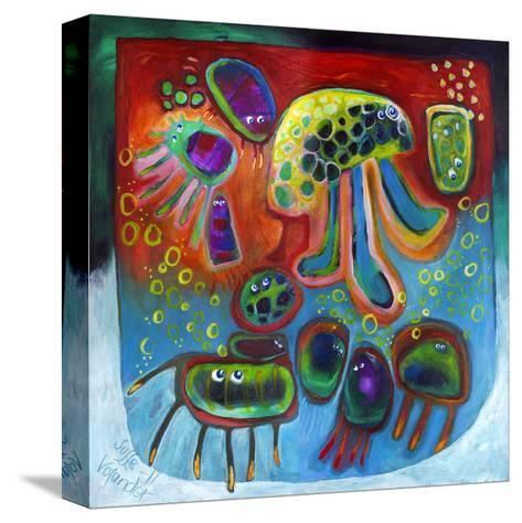 Jellyfish Party-Susse Volander-Stretched Canvas Print
