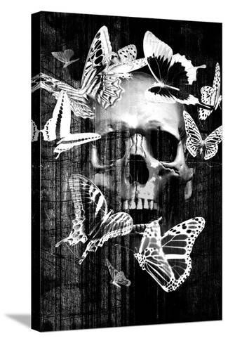 Skull Butterfly Crown--Stretched Canvas Print