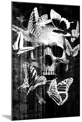Skull Butterfly Crown--Mounted Art Print
