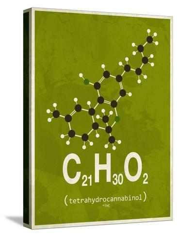 Molecule Thc--Stretched Canvas Print