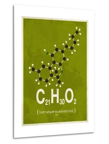 Molecule Thc--Metal Print