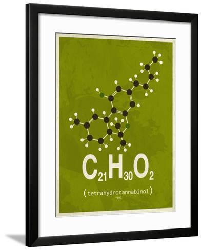 Molecule Thc--Framed Art Print