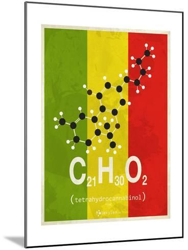 Molecule Thc--Mounted Art Print