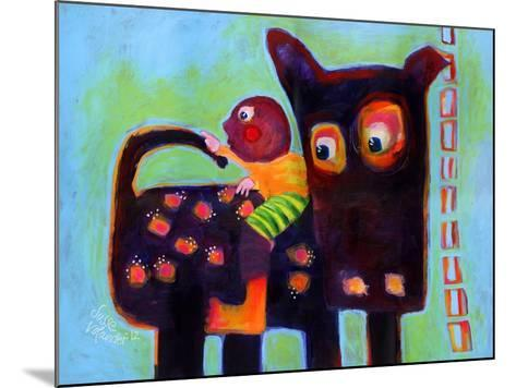 The Dog Sees It's Tail-Susse Volander-Mounted Art Print