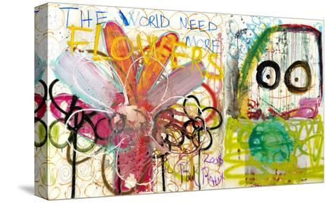 The World Need More Flowers-Poul Pava-Stretched Canvas Print